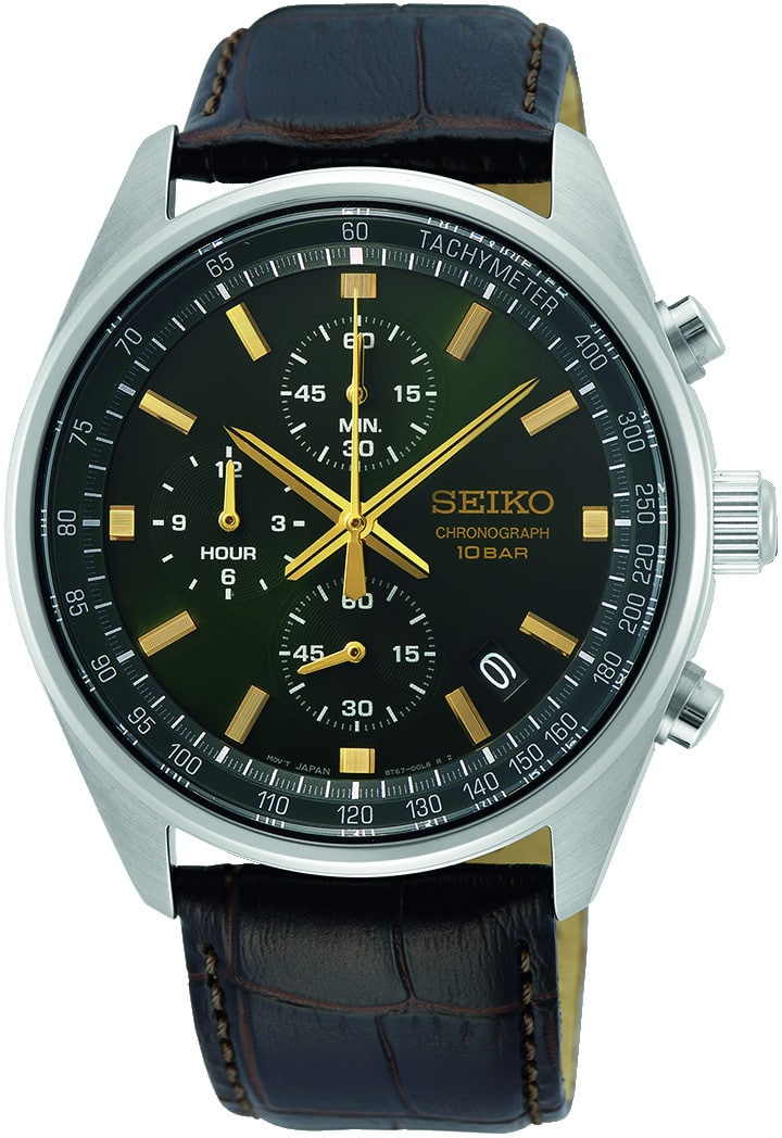 SEIKO Herren Edelstahl Chronograph Quarz Uhr - 163196
